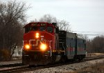 CN 5347 heads west with the CN Track Inspection train